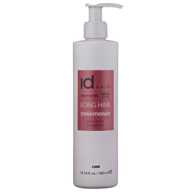 IdHAIR Elements Xclusive Long Hair Conditioner 300 ml -pitkien hiusten hoitoaine. Tekee hiuksista sileät, ravitut ja helposti hallittavat. Sopii pidennyshiuksille.