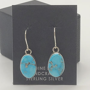 Blue Bird Turquoise Dangle Earrings