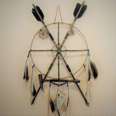Navajo Mandala with Peace Pipe