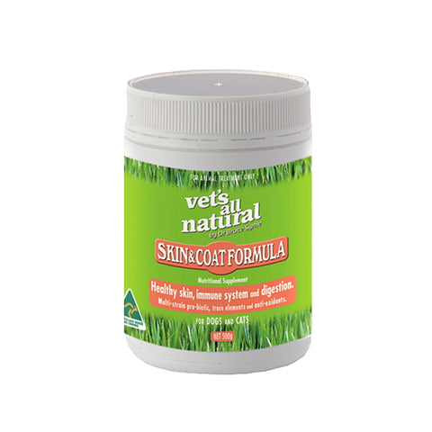 Vets All Natural Skin and Coat Formula 250g
