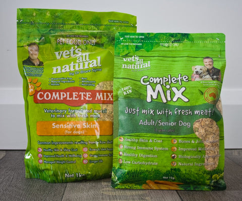 Vets All Natural Complete Mix Sensitive Skin for Dogs 1kg