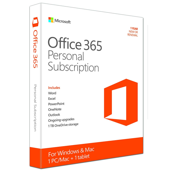 Microsoft Office 365 Personal, 1 Year Download