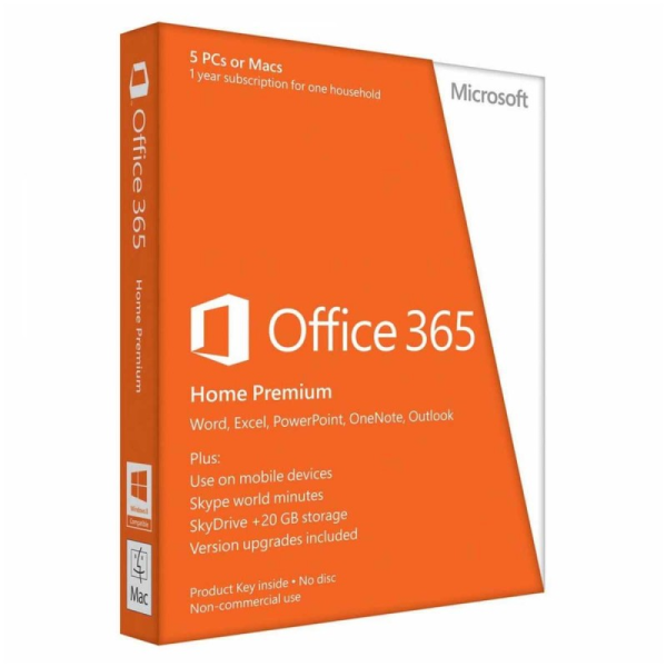 Microsoft Office 365 Home Premium, 1 Year