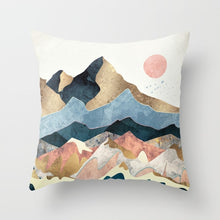 Load image into Gallery viewer, Geometric Mountain Peaks  Home Decor 45x45cm