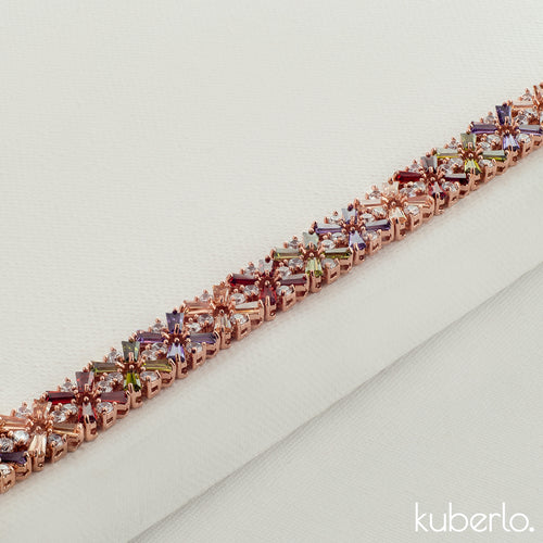 Princess Bracelet Multicolour - Kuberlo - Best Gift for - Imitation Jewellery - Designer Jewellery - one gram gold - fashion jewellery