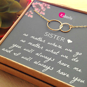 My Dear Sister Statement Necklace