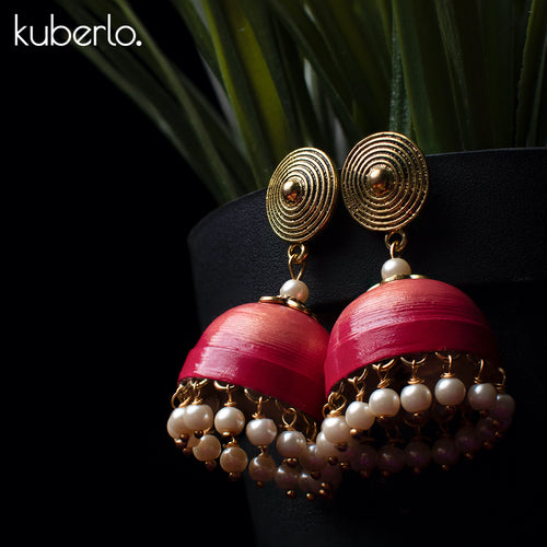 Hand Made Jhumka earrings - Kuberlo - Best Gift for - Imitation Jewellery - Designer Jewellery - one gram gold - fashion jewellery
