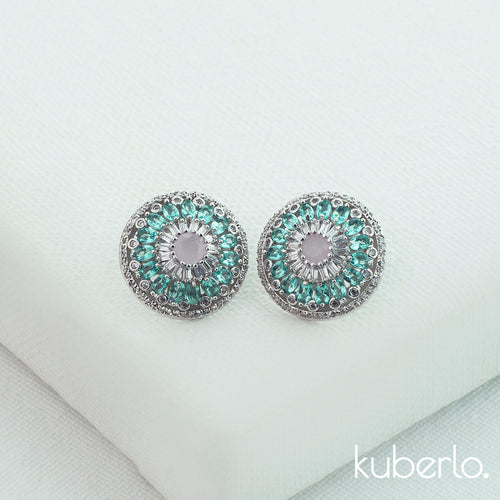 Vihana Stud Earrings - Blue - Kuberlo - Best Gift for - Imitation Jewellery - Designer Jewellery - one gram gold - fashion jewellery