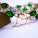 Emerald Green Sparkle Bracelet - Kuberlo - Best Gift for - Imitation Jewellery - Designer Jewellery - one gram gold - fashion jewellery