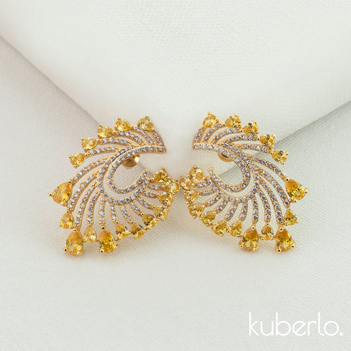 Sunshine Earrings Gold - Kuberlo - Best Gift for - Imitation Jewellery - Designer Jewellery - one gram gold - fashion jewellery