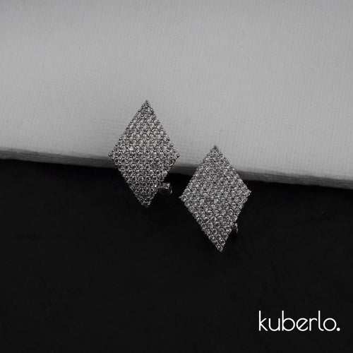 Diamond Cut Earrings Silver - Kuberlo - Best Gift for - Imitation Jewellery - Designer Jewellery - one gram gold - fashion jewellery