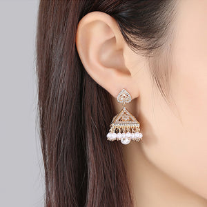 Aauri Jhumki Earrings - Kuberlo - Best Gift for - Imitation Jewellery - Designer Jewellery - one gram gold - fashion jewellery