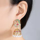 Peafowl Jhumka Earrings - Kuberlo - Best Gift for - Imitation Jewellery - Designer Jewellery - one gram gold - fashion jewellery