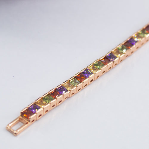 Square Crystal Bracelet - Kuberlo - Best Gift for - Imitation Jewellery - Designer Jewellery - one gram gold - fashion jewellery