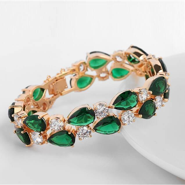 Emerald Green Sparkle Bracelet