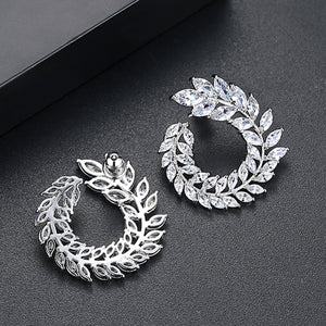 Aelia Earrings - White Gold - Kuberlo - Best Gift for - Imitation Jewellery - Designer Jewellery - one gram gold - fashion jewellery