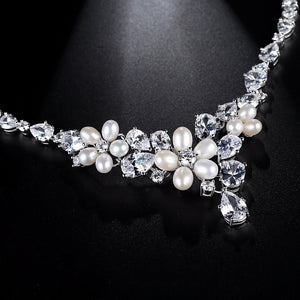 Crystal Bloome Necklace Set - Kuberlo - Best Gift for - Imitation Jewellery - Designer Jewellery - one gram gold - fashion jewellery