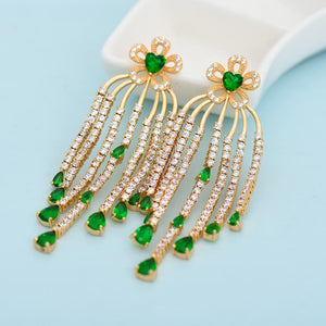 Rain Drops Earrings - Kuberlo - Best Gift for - Imitation Jewellery - Designer Jewellery - one gram gold - fashion jewellery