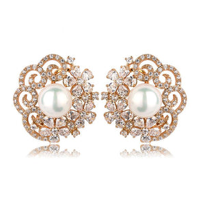 Stella Crystal Studs - Kuberlo - Best Gift for - Imitation Jewellery - Designer Jewellery - one gram gold - fashion jewellery