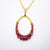 Kanoor Ruby Dangler Pendant - Red - Kuberlo - Best Gift for - Imitation Jewellery - Designer Jewellery - one gram gold - fashion jewellery