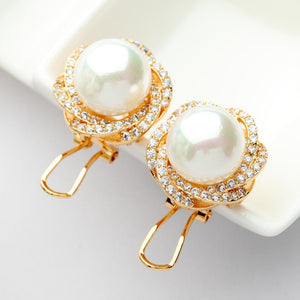 Pearl Stud Earrings - Kuberlo - Best Gift for - Imitation Jewellery - Designer Jewellery - one gram gold - fashion jewellery