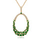Kanoor Emerald Pendant - Green - Kuberlo - Best Gift for - Imitation Jewellery - Designer Jewellery - one gram gold - fashion jewellery