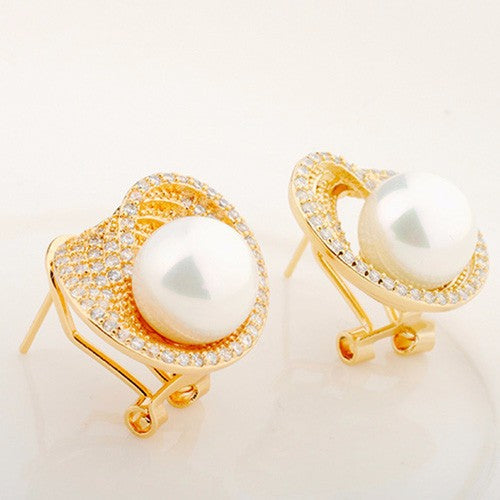 Office Pearl Studs - Kuberlo - Best Gift for - Imitation Jewellery - Designer Jewellery - one gram gold - fashion jewellery