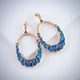 Gift Kanoor Dangler earrings  (Blue) - Kuberlo - Best Gift for - Imitation Jewellery - Designer Jewellery - one gram gold - fashion jewellery