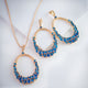 Gift Kanoor Blue Dangler Necklace Set