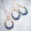 Kanoor Dangler Necklace Set - Blue - Kuberlo - Best Gift for - Imitation Jewellery - Designer Jewellery - one gram gold - fashion jewellery