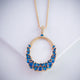 Gift Kanoor Pendant - Blue - Kuberlo - Best Gift for - Imitation Jewellery - Designer Jewellery - one gram gold - fashion jewellery