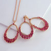 Kanoor Ruby Dangler Necklace Set - Kuberlo - Best Gift for - Imitation Jewellery - Designer Jewellery - one gram gold - fashion jewellery