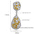 Yellow Crystal Danglers - Kuberlo - Best Gift for - Imitation Jewellery - Designer Jewellery - one gram gold - fashion jewellery