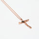 Jesus Cross Pendant (Rose Gold Plating)