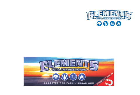 ELEMENTS 1¼ Rolling Papers W/ Magnet - 420 Hippy Inc