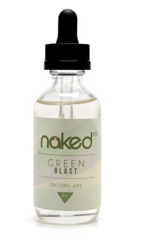 Green Blast 60mL E-Liquid by Naked Nicotine free - 420 Hippy Inc