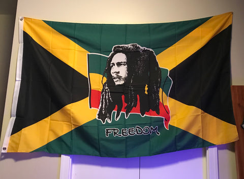 Flag- Bob Marley Freedom - 420 Hippy Inc