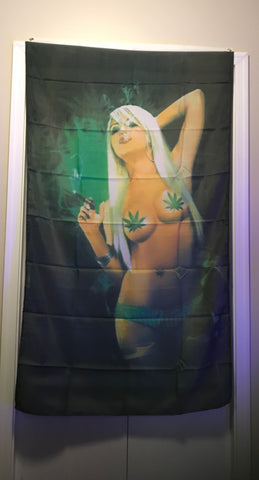 Flags- Weed Girl - 420 Hippy Inc