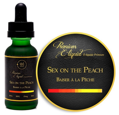 Sex On The Peach E-Liquid 30mL by 180 Smoke Shop 6MG NICOTINE - 420 Hippy Inc