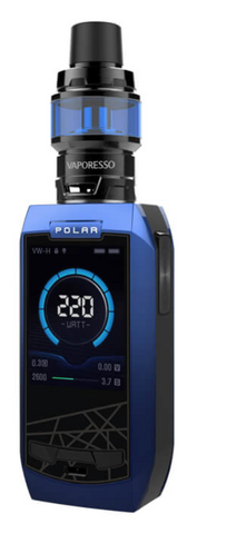 VAPORESSO POLAR 220W TC KIT BLUE/BLACK - 420 Hippy Inc