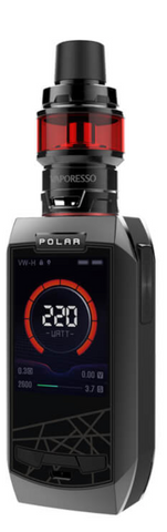 VAPORESSO POLAR 220W TC KIT METALLIC GREY - 420 Hippy Inc