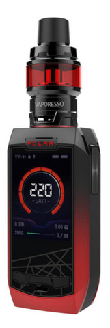 VAPORESSO POLAR 220W TC KIT RED/BLACK - 420 Hippy Inc