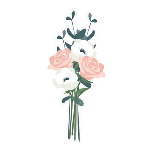 Julep Flower Arrangements Illustration