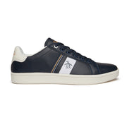 Steadman Striped Trainer In Dark Blue
