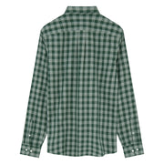 Woven Gingham Shirt In Darkest Spruce