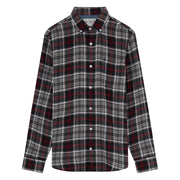 Plaid Flannel Shirt In True Black