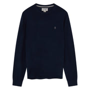 Merino Crew Neck Sweater In Dress Blues