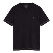 Coverstitch T-Shirt In True Black