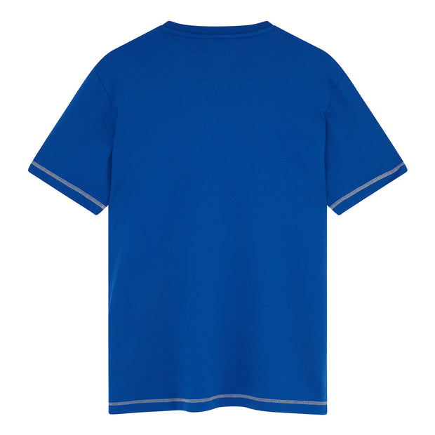Coverstitch Crew Neck T-Shirt In Surf The Web