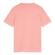 Coverstitch Crew Neck T-Shirt In Pink Icing